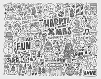 Υπόβαθρο Χριστουγέννων Doodle Στοκ φωτογραφία με δικαίωμα ελεύθερης χρήσης