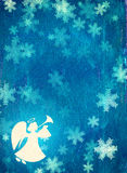 Υπόβαθρο Χριστουγέννων Grunge με τον άγγελο Στοκ φωτογραφία με δικαίωμα ελεύθερης χρήσης