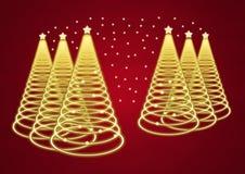Υπόβαθρο χριστουγεννιάτικων δέντρων διανυσματική απεικόνιση
