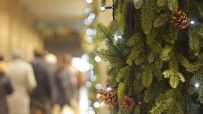 Υπόβαθρο χριστουγεννιάτικων δέντρων απόθεμα βίντεο