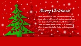 Υπόβαθρο χριστουγεννιάτικων δέντρων applique ουρανός santa του Klaus παγετού Χριστουγέννων καρτών τσαντών Στοκ φωτογραφίες με δικαίωμα ελεύθερης χρήσης