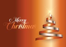 Υπόβαθρο χριστουγεννιάτικων δέντρων κορδελλών απεικόνιση αποθεμάτων