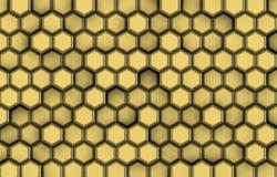 Υπόβαθρο χρυσά hexagons με την ανακούφιση και τις σκιές, Στοκ φωτογραφία με δικαίωμα ελεύθερης χρήσης