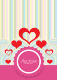 Υπόβαθρο χρωμάτων αγάπης με τις κόκκινες καρδιές Στοκ Εικόνες