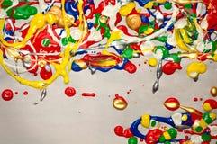 Υπόβαθρο χρωμάτων Splatter Στοκ εικόνες με δικαίωμα ελεύθερης χρήσης