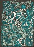 Υπόβαθρο χρώματος doodle Στοκ Εικόνα