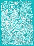 Υπόβαθρο χρώματος doodle Στοκ Εικόνες
