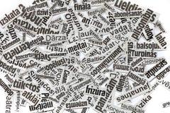 Υπόβαθρο ψαλιδίσματος τίτλων εφημερίδων Στοκ φωτογραφίες με δικαίωμα ελεύθερης χρήσης