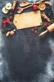Υπόβαθρο ψησίματος Χριστουγέννων Στοκ εικόνες με δικαίωμα ελεύθερης χρήσης
