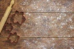 Υπόβαθρο ψησίματος Χριστουγέννων Στοκ Φωτογραφίες