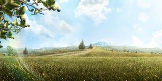 Υπόβαθρο όμορφο βουνό τοπίων Τουρισμός ριψοκινδυνεμμένο πεζοπορώ πανόραμα jpg στοκ φωτογραφία