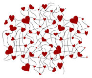 Υπόβαθρο δύο καρδιών Στοκ Εικόνες