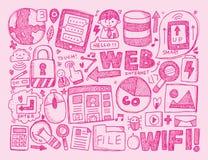 Υπόβαθρο Διαδικτύου Doodle Στοκ φωτογραφίες με δικαίωμα ελεύθερης χρήσης