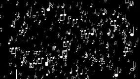 Υπόβαθρο Aanimated με τις μουσικές νότες Μαύρη ανασκόπηση ελεύθερη απεικόνιση δικαιώματος
