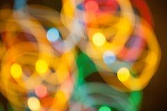 Υπόβαθρο Bokeh με τα ζωηρά χρώματα Στοκ Εικόνες