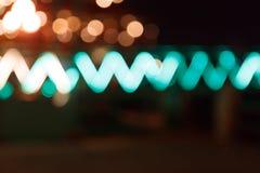 Υπόβαθρο Bokeh νύχτας πόλεων Στοκ φωτογραφία με δικαίωμα ελεύθερης χρήσης