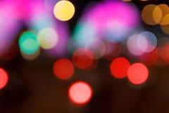 Υπόβαθρο Bokeh νύχτας πόλεων Στοκ Φωτογραφίες