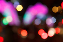 Υπόβαθρο Bokeh νύχτας πόλεων Στοκ Εικόνα