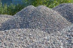 Υπόβαθρο Breakstone Οδικό αμμοχάλικο Σύσταση αμμοχάλικου συντριμμένο αμμοχάλικο Σωροί των βράχων ασβεστόλιθων Πέτρες σπασιμάτων σ στοκ εικόνες