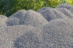 Υπόβαθρο Breakstone Οδικό αμμοχάλικο Σύσταση αμμοχάλικου συντριμμένο αμμοχάλικο Σωροί των βράχων ασβεστόλιθων Πέτρες σπασιμάτων σ στοκ εικόνα με δικαίωμα ελεύθερης χρήσης
