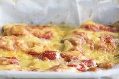 Υπόβαθρο casserole Στοκ εικόνα με δικαίωμα ελεύθερης χρήσης
