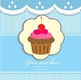 Υπόβαθρο Cupcake Στοκ Φωτογραφία