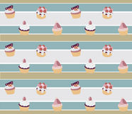 Υπόβαθρο cupcake Στοκ φωτογραφία με δικαίωμα ελεύθερης χρήσης