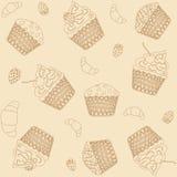 Υπόβαθρο Cupcakes Στοκ Φωτογραφίες