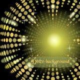 Υπόβαθρο disco έκδοσης με τα ελαφριά αποτελέσματα Στοκ Φωτογραφία