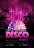 Υπόβαθρο Disco. Αφίσα Disco Στοκ Εικόνες