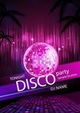 Υπόβαθρο Disco. Αφίσα Disco απεικόνιση αποθεμάτων