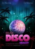 Υπόβαθρο Disco. Αφίσα Disco Στοκ Φωτογραφία