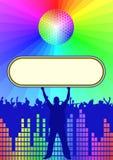 Υπόβαθρο Disco Στοκ φωτογραφία με δικαίωμα ελεύθερης χρήσης
