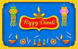 Υπόβαθρο Diwali με ζωηρόχρωμο firecracker