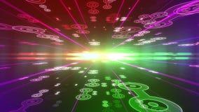 Υπόβαθρο Dreamlike με τους συνδεδεμένους κύκλους διανυσματική απεικόνιση
