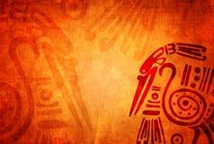 Υπόβαθρο Grunge με τα αμερικανικά ινδικά παραδοσιακά σχέδια Στοκ Φωτογραφίες