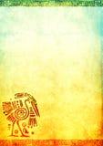 Υπόβαθρο Grunge με τα αμερικανικά ινδικά παραδοσιακά σχέδια Στοκ φωτογραφία με δικαίωμα ελεύθερης χρήσης