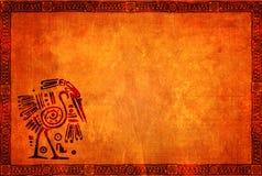 Υπόβαθρο Grunge με τα αμερικανικά ινδικά παραδοσιακά σχέδια Στοκ Εικόνες