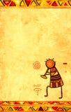 Υπόβαθρο Grunge με τα αφρικανικά παραδοσιακά σχέδια Στοκ εικόνα με δικαίωμα ελεύθερης χρήσης