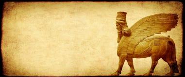 Υπόβαθρο Grunge με τη σύσταση και το lamassu εγγράφου Στοκ εικόνες με δικαίωμα ελεύθερης χρήσης