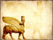 Υπόβαθρο Grunge με τη σύσταση και το lamassu εγγράφου Στοκ εικόνα με δικαίωμα ελεύθερης χρήσης