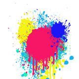 Υπόβαθρο Grunge με τους λεκέδες του χρώματος Στοκ εικόνες με δικαίωμα ελεύθερης χρήσης