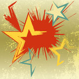 Υπόβαθρο Grunge του αστεριού έκρηξης. Διανυσματική απεικόνιση