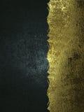 Υπόβαθρο Grunge των μαύρων και χρυσών συστάσεων Πρότυπο για το σχέδιο διάστημα αντιγράφων για το φυλλάδιο αγγελιών ή την πρόσκλησ Στοκ Εικόνα