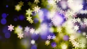 Υπόβαθρο HD Loopable με συμπαθητικά μειωμένα snowflakes φιλμ μικρού μήκους