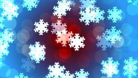 Υπόβαθρο HD Loopable με συμπαθητικά μειωμένα snowflakes απόθεμα βίντεο