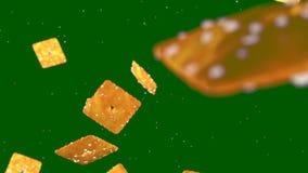Υπόβαθρο HD Loopable με τα συμπαθητικά αφηρημένα πετώντας μπισκότα φιλμ μικρού μήκους