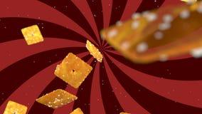Υπόβαθρο HD Loopable με τα συμπαθητικά αφηρημένα πετώντας μπισκότα απόθεμα βίντεο