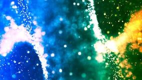 Υπόβαθρο HD Loopable με τη συμπαθητική πράσινη μπλε περίληψη διανυσματική απεικόνιση