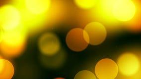 Υπόβαθρο HD Loopable με το συμπαθητικό μεγάλο κίτρινο bokeh απόθεμα βίντεο